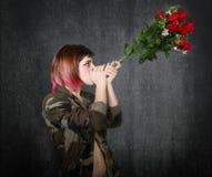 Rose rosse unite militari immagini stock libere da diritti