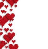 Rose rouge Coeurs de papier abstraits Image stock