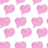 Rose rouge Symbole de coeur de rose de Zentangle Images libres de droits