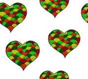 Rose rouge Symbole noir et blanc de coeur de Zentangle Photographie stock libre de droits