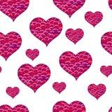 Rose rouge Symbole noir et blanc de coeur de Zentangle Image stock