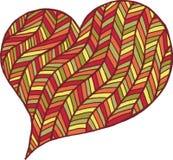 Rose rouge Symbole noir et blanc de coeur de Zentangle Photos libres de droits