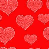 Rose rouge Symbole noir et blanc de coeur de Zentangle illustration stock