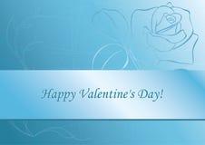 rose s valentin för blå kortdaglampa Royaltyfria Foton