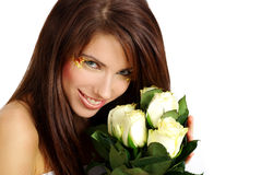 rose s-valentinkvinna Arkivbild