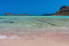 Rose sand. The rose sand of Balos lagoon. Creete, Greece Stock Photo