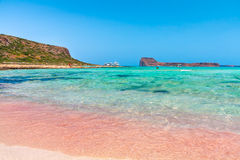 Rose sand. The rose sand of Balos lagoon. Creete, Greece Stock Images