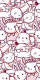 Rose sans couture de modèle de bébé de lapin de caractère de vecteur illustration stock