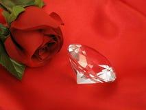rose satäng för diamantred Arkivfoto