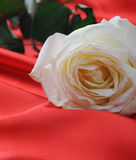Rose on satin Royalty Free Stock Photo
