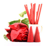 Rose scented aromatic items Royalty Free Stock Images