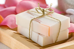 Rose scented soap Stock Photos