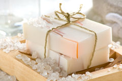 Rose scented soap Royalty Free Stock Photography