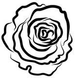 Rose se ennegrece, vector, ejemplo, silueta, fondo blanco, esplendor, estilo, pasión ilustración del vector