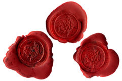 Rose seals royalty free stock images