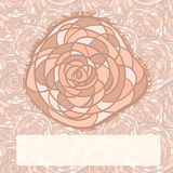 rose on seamless  background Royalty Free Stock Photo