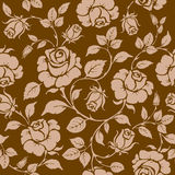 Rose. Seamless background. Vintage seamless rose floral pattern Royalty Free Stock Images