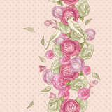 Rose Seamless Background with Birds Royalty Free Stock Photography
