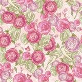 Rose Seamless Background con los pájaros Imagen de archivo