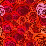 Rose seamless background Royalty Free Stock Images