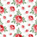 Rose seamless background. Stock Image
