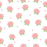 Rose Seamless Background. Seamless pattern background. Rose background vecctor Royalty Free Stock Photos