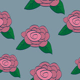 Rose Seamless Background Tile Stock Photo