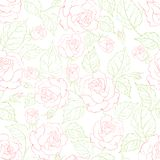 Rose seamless background Royalty Free Stock Image