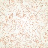 Rose seamless background. Royalty Free Stock Images