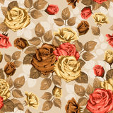 Rose. Seamless background. Vintage seamless rose floral pattern Stock Photography