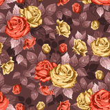 Rose. Seamless background. Vintage seamless rose floral pattern Stock Photos