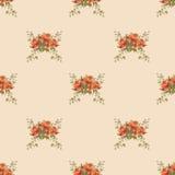 Rose seamless pattern vector illustration