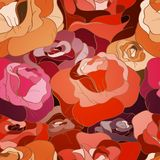 Rose seamless pattern Royalty Free Stock Images