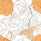 Rose seamless pattern. Can be used for wallpaper, website background, textile printing Royalty Free Stock Image