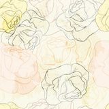 Rose seamless pattern. Can be used for wallpaper, website background, textile printing Royalty Free Stock Photography