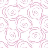 Rose seamless pattern. Floral desugn. Royalty Free Stock Photography