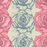 Rose seamless pattern Stock Photo