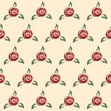 Rose seamless pattern, retro pin-up style Stock Image