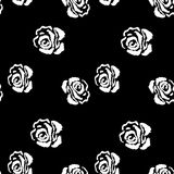 Rose seamless pattern. Vintage background with. Flowers rose Royalty Free Stock Images