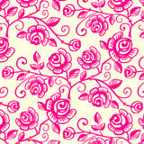 Rose Seamless Tiles Stock Image