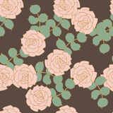 Rose seampless background gray Stock Image