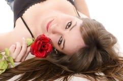 Rose sexy et gril. Photographie stock libre de droits