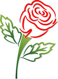 Rose shape Stock Photography