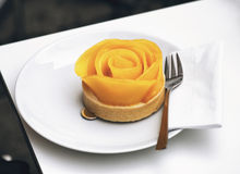 Rose shaped gourmet apple tart Stock Photo