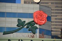 Rose Sign su costruzione a Portland, Oregon immagine stock libera da diritti