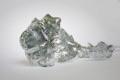 Rose silver. Rose with silver glitter on a white background Royalty Free Stock Photo