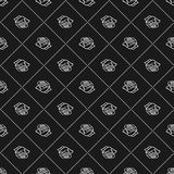 Rose sketch. seamless pattern. Flower design elements. Vector illustration. Elegant flower outline design. Gray symbol isolated on Royalty Free Stock Images