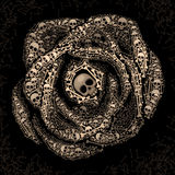 Rose of skulls and bones Royalty Free Stock Photos