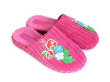 Rose slippers Stock Photos
