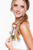 rose smiley för härlig brud Royaltyfri Foto